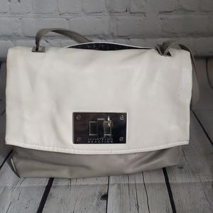 LIME GREY COLOR BLOCK KENNETH COLE PURSE